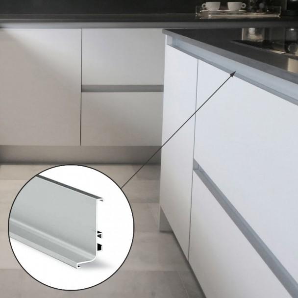 Perfil Sistema Gola Superior Horizontal Alumínio 8006