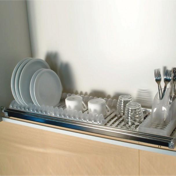 Escurreplatos Modular Aço Inoxidável com Caixa
