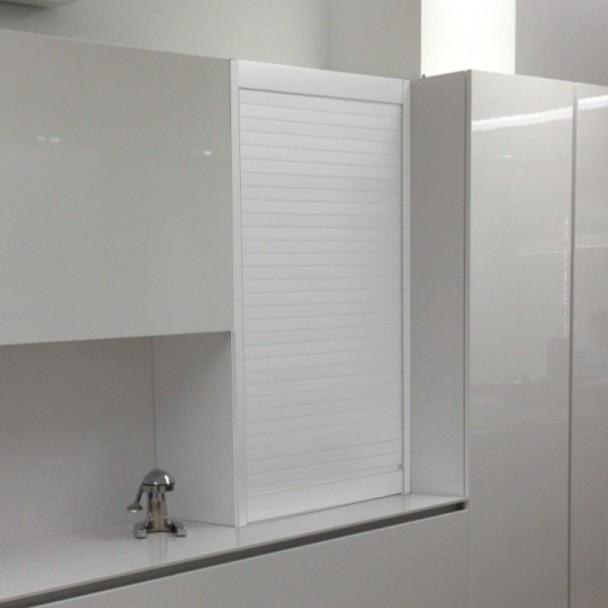 Kit Cortina Alumínio Branco para Móveis de Cozinha