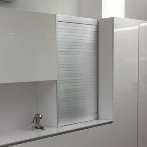 Kit Cortina Alumínio Inox para Móveis de Cozinha