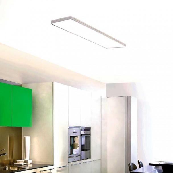 Lâmpada de Teto Integrity Fluorescente em Alumínio Acetinado e Branco