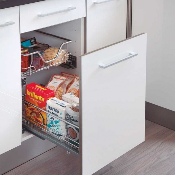 Cesto Extraível Extensão para Móveis de Cozinha
