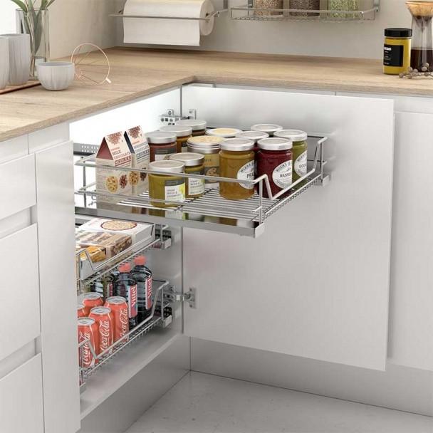 Cesto Multiuso Extraível Cozinha Linha Plus