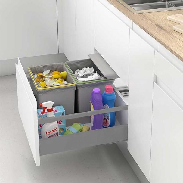 Cubos Reciclagem de Lixo para Gaveta Mod. G