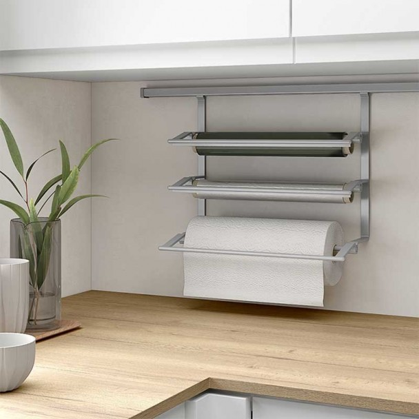 Suporte Triplo para Rolos de Papel de Cozinha