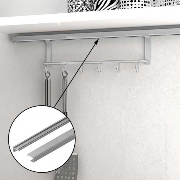Barra Suporte 750 mm para Pendurar Acessórios de Parede na Cozinha