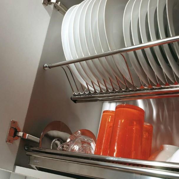 Platera de Cozinha Escurreplatos em Aço Inoxidável