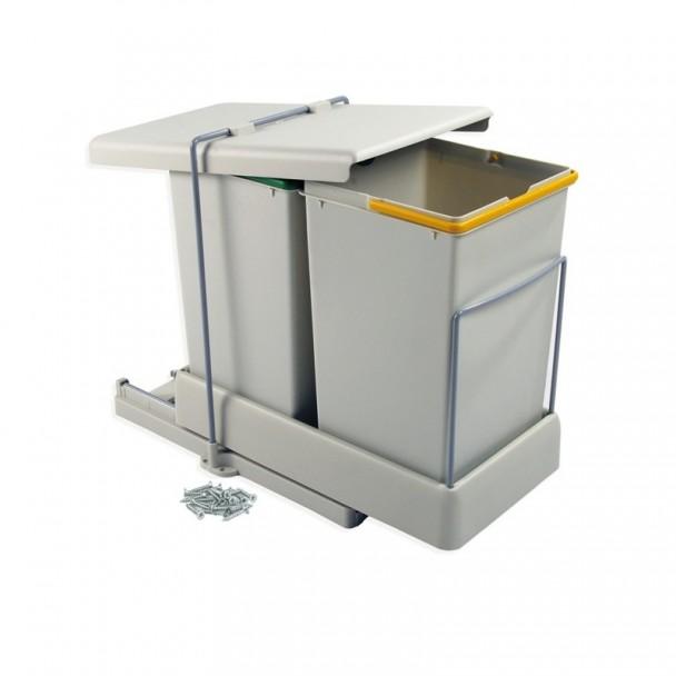 Balde Lixo 14 + 14 L Extração e Tampa Automática