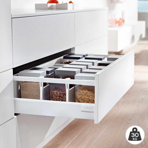 Extensão Branco 30 kg Blum Tandembox Antaro D para cozinha