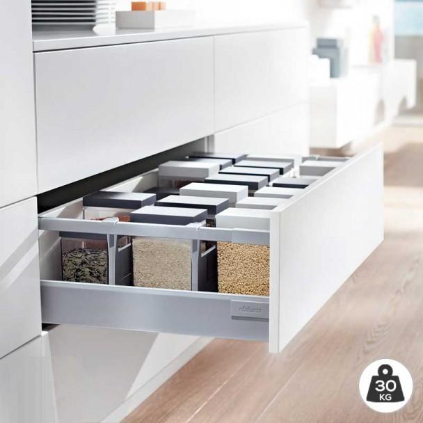 Extensão de Cinza 30 kg Blum Tandembox Antaro D para cozinha