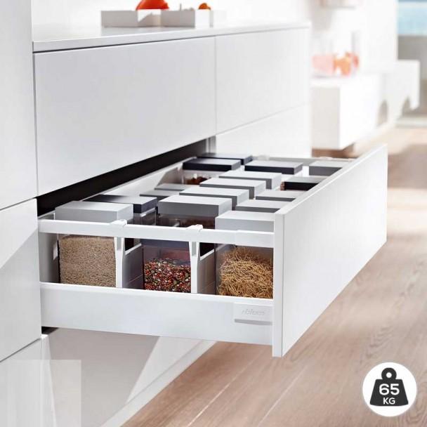 Extensão Branco 65 kg Blum Tandembox Antaro D para cozinha