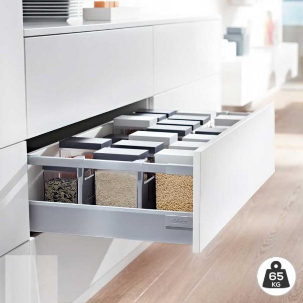 Extensão de Cinza 65 kg Blum Tandembox Antaro D para cozinha