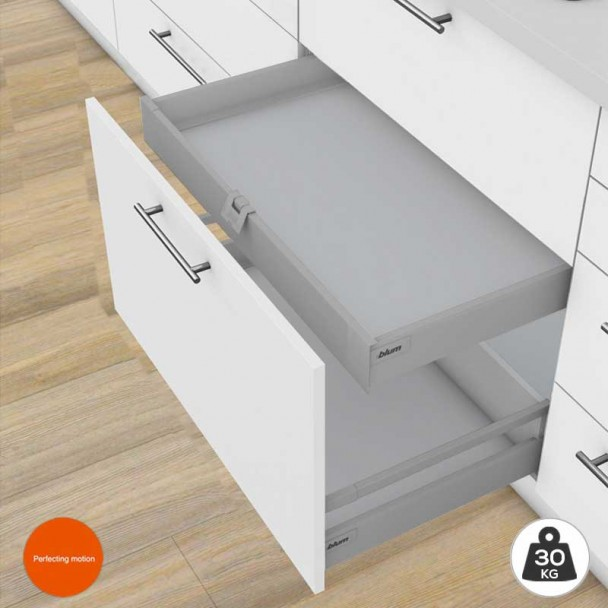Gaveta Interna Cinza 30 kg Tandembox Antaro M para cozinha