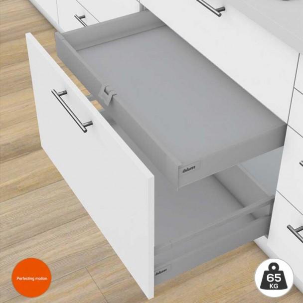 Gaveta Interna Cinza 65 kg Tandembox Antaro M para cozinha