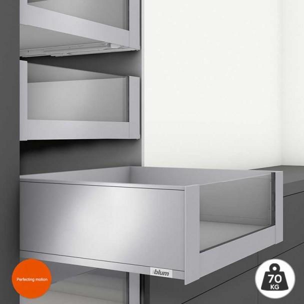 Extensão Interior Cinza 70 kg em Frente Vidro Legrabox Pure C