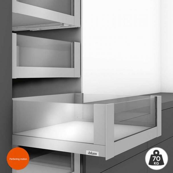 Extensão Interior Cinza 70 kg em Frente Vidro Legrabox Free C