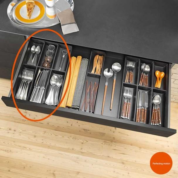 Cubertero AMBIA-LINE de aço para Gaveta de Cozinha LEGRABOX
