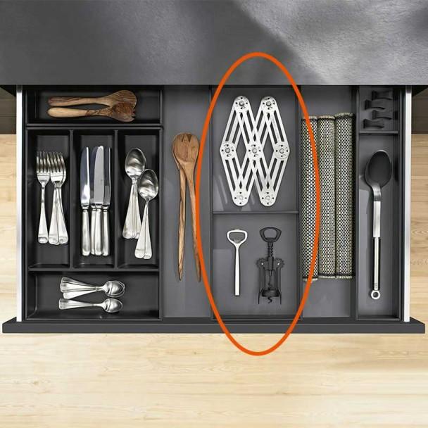Quadro Cubertero AMBIA-LINE de aço para Gaveta de Cozinha LEGRABOX