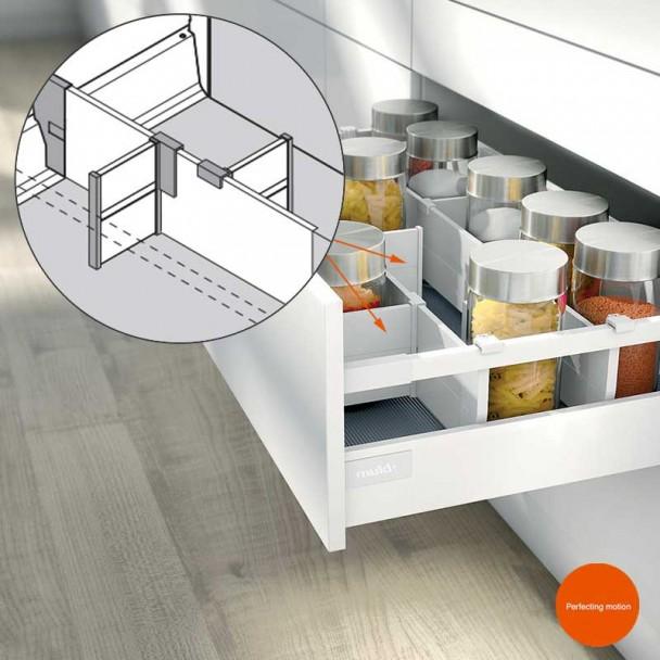 Separador Longitudinal ORGA-LINE para Extensões de Cozinha Blum