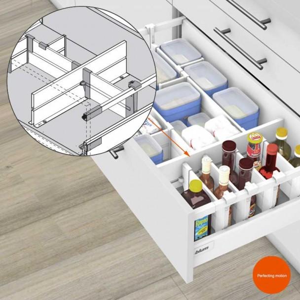 Divisória de Separação ORGA-LINE para Extensões de Cozinha Blum