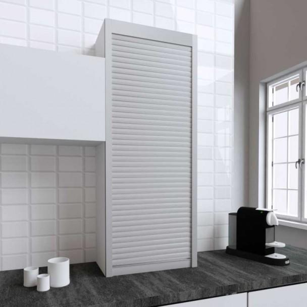 Kit Persiana 60 x 150 cm PVC Inox para Móveis de Cozinha