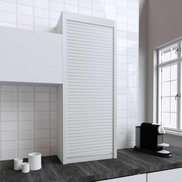 Kit Persiana 60 x 150 cm PVC Branco para Móveis de Cozinha