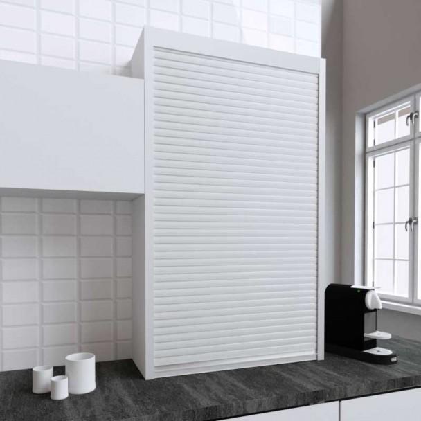 Kit Persiana 90 x 150 cm PVC Branco para Móveis de Cozinha