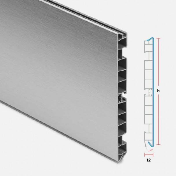 Rodapé de PVC Alumínio Escovado para Cozinha