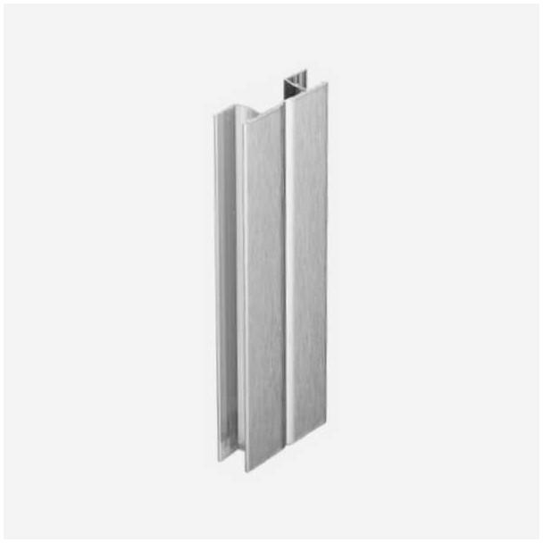 Multi-ângulo Alumínio Escovado para Rodapé de PVC de Cozinha