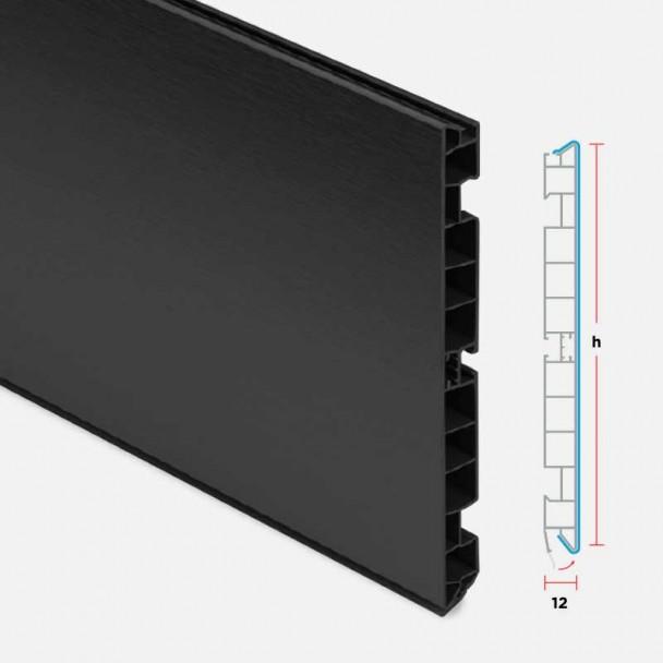 Rodapé de PVC Preto para Cozinha