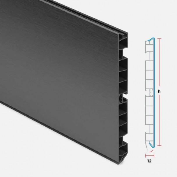 Rodapé de PVC Antracite para Cozinha