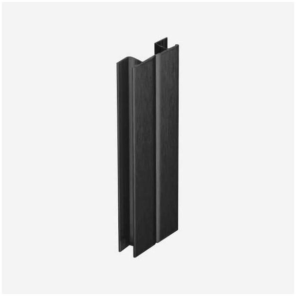 Multi-ângulo Preto para Rodapé de PVC de Cozinha