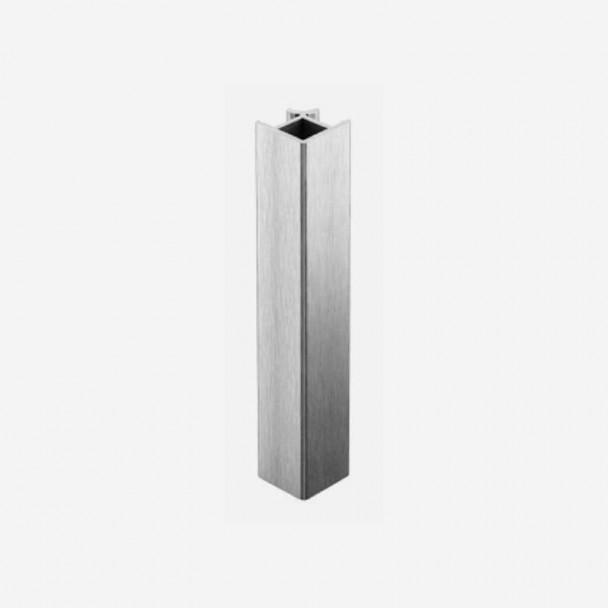 Ângulo 90º Alumínio Escovado para Rodapé de PVC de Cozinha