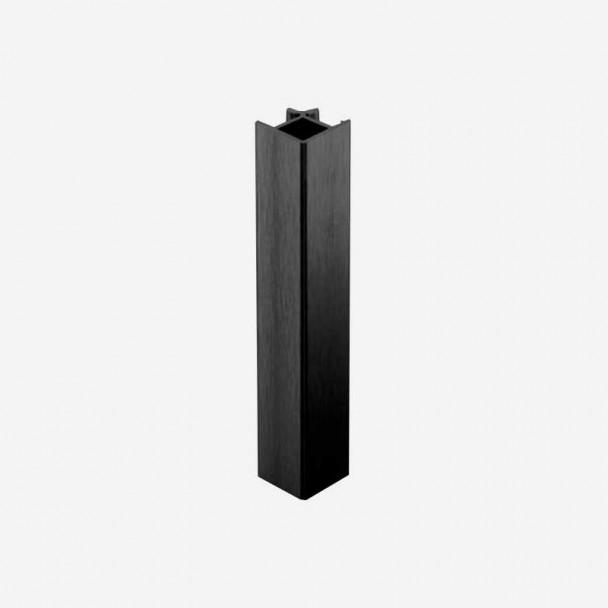 Ângulo 90º Preto para Rodapé de PVC de Cozinha