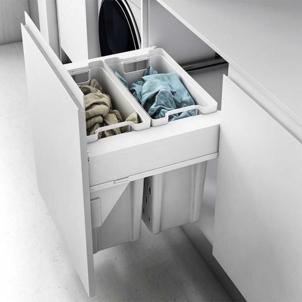 Cesta frontal removível para roupas Compact