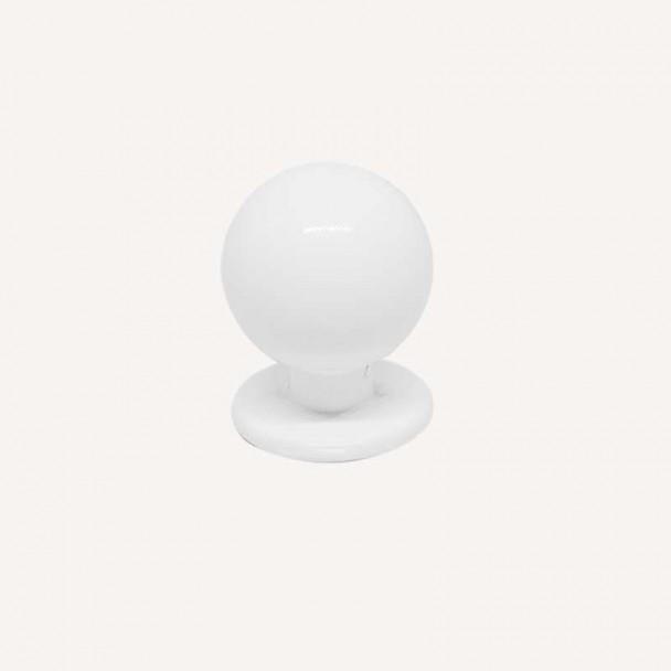 Maçaneta de Zamak Branco Fosco 3441