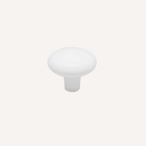 Maçaneta de Zamak Branco Fosco 3458