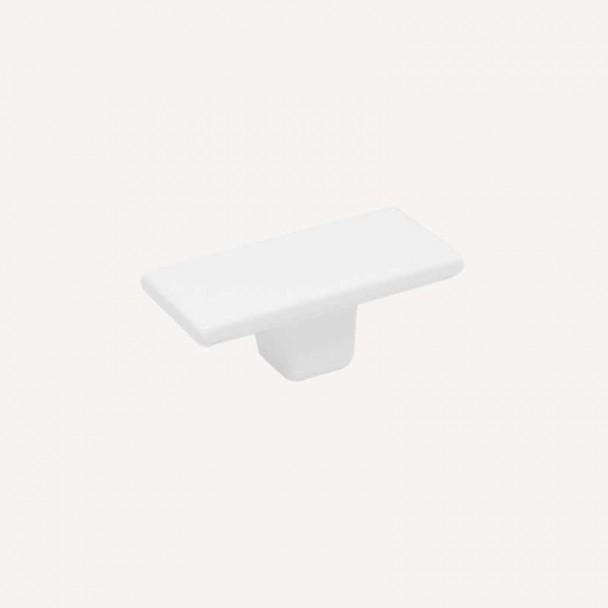 Maçaneta de Zamak Branco Fosco 6004
